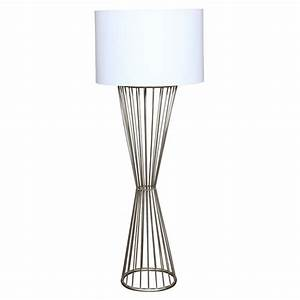 contemporary iron oval floor lamp with linen oval shade at With floor lamp with oval shade