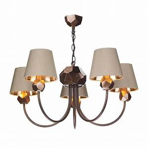 Copper geometric light ceiling pendant taupe lighting