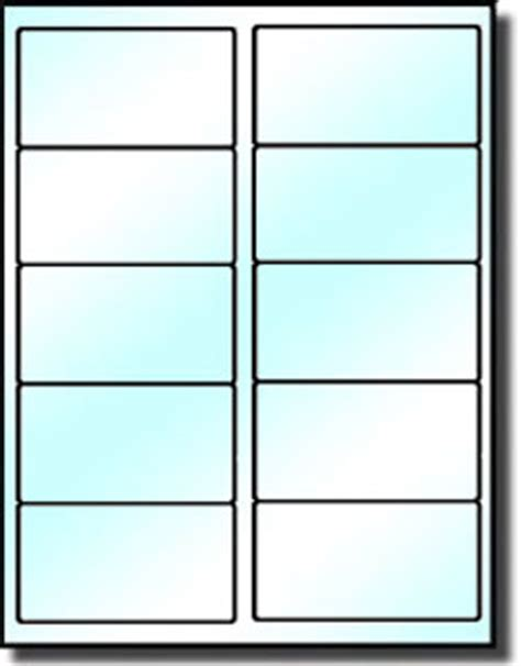 Avery Template 8163 Same Size As Avery 5163 5263 200 Clear Glossy Labels 4 X 2 For Use In Laser