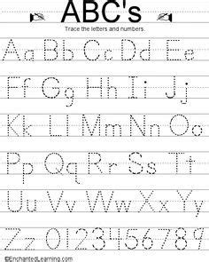 printable traceable alphabet chart  upper