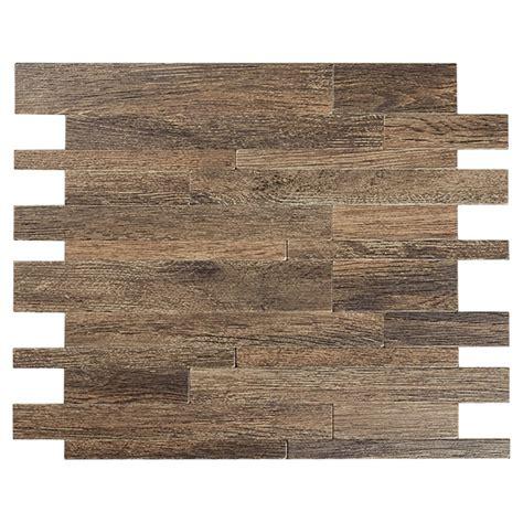 Rona Bathroom Tiles by Self Adhesive Metal Tile Murano W Wood Color Rona