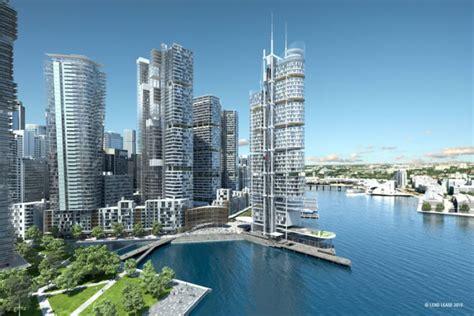 Artists impression of high-rise development at Barangaroo ...