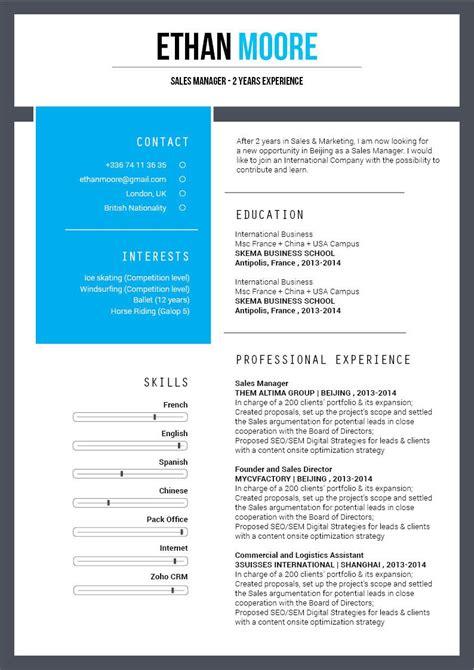 Original Cv Template by Resume Template Original Resume 183 Mycvfactory