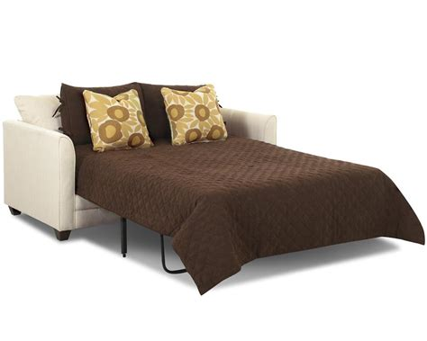Size Sleeper by Small Sleeper Sofa With Size Mattress By Klaussner
