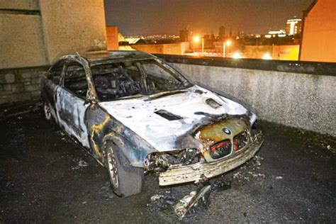 bmw destroyed  dramatic early morning blaze  dundee