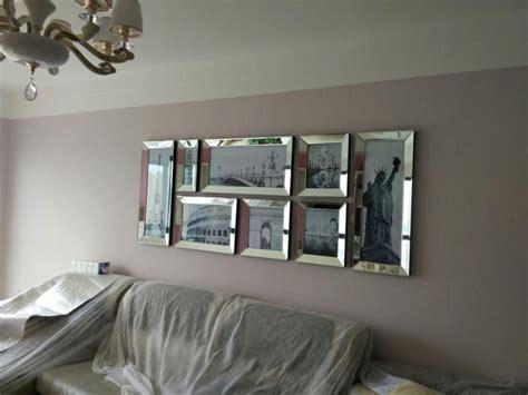 fashion mirrored modern combination photo frame wall mural