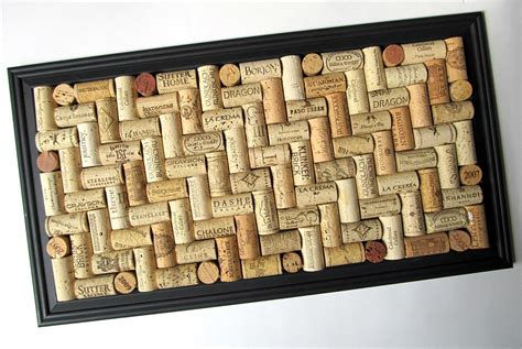 Vintage Curtain Hooks by Wine Cork Board With Matte Black Frame By Lizziejoedesigns