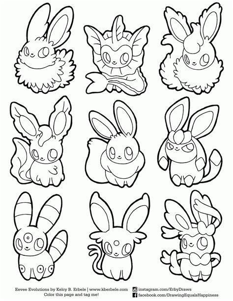 eevee coloring pages eevee evolutions coloring pages sketch coloring page