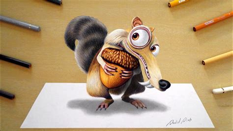 drawing scrat ice age youtube