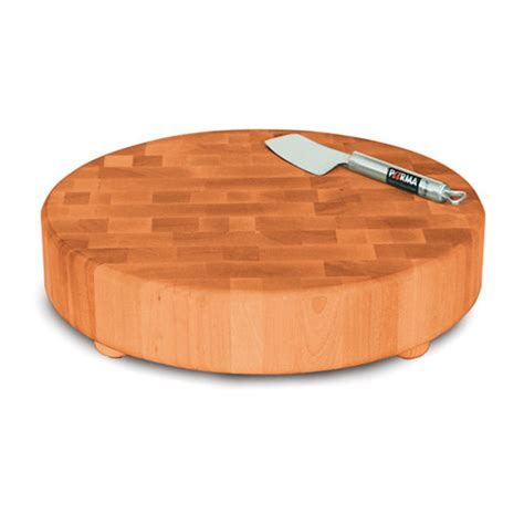 butcher block by the foot catskill round slab butcher block with bun feet