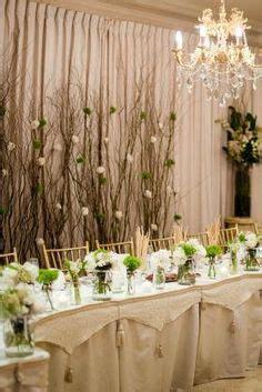 rustic nature stick head table backdrop wedding
