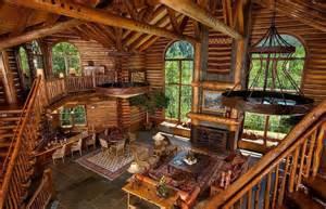 Interior Of Log Homes Log Cabin Interior Mountain