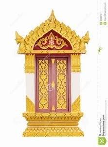 Thai Temple Door Sculpture Stock Photo - Image: 33438910