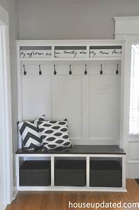 Entry Storage: Bench + Hooks + Baskets + More - House Updated