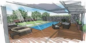 realisations architecte paysagiste thomas gentilini With amenagement petit jardin avec terrasse et piscine 3 creation jardin de ville avec piscine marseille roucas