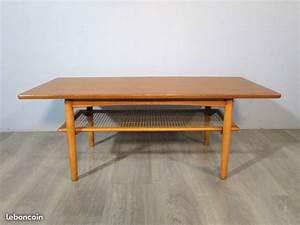 Table Basse Scandinave Vintage : table basse vintage scandinave en teck atelier 1954 ~ Teatrodelosmanantiales.com Idées de Décoration
