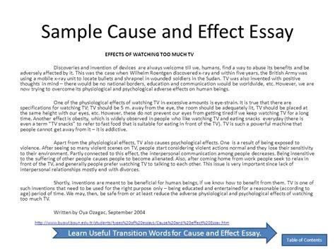 effect essay college education