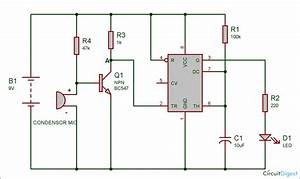 Clap Switch Circuit Diagram Using Ic 555