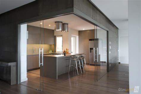 Küche Mit Schiebetür by Glasschiebet 252 R Mit Bodenrollen Glasprofi24