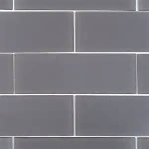 shop for loft ash gray frosted 4 quot x 12 quot glass tiles at