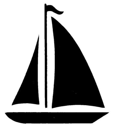 Sailboat Outline Vector Free sailboat boat clip art at vector clip art free clipartix