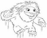 Yeti Coloring Abominable Jumping Printable sketch template