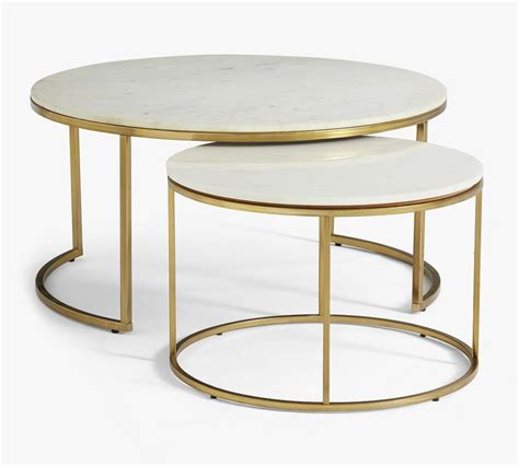 American signature furniture | designer looks at value prices Delaney Round Marble Nesting Coffee Tables | Pottery Barn Canada