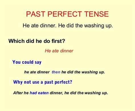 past perfect exles