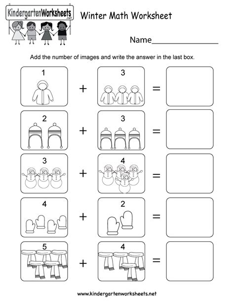 winter worksheets  preschoolers bilscreen