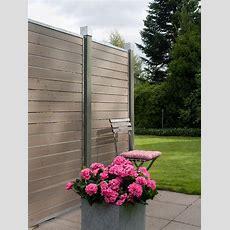 Garten Im Quadrat  Sichtschutz Aus Holz Cubic, Graubraun