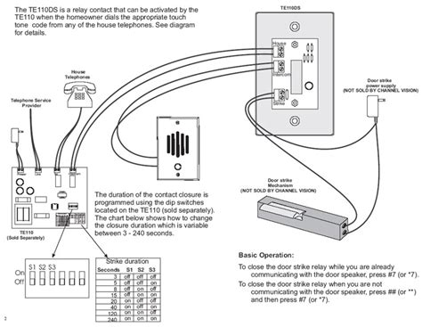 House Phone Wiring Diagram by Channel Vision Telephone Intercom Entry System Mainboard