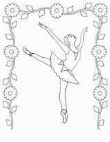 Coloring Dancing Pages Printable Ballet sketch template