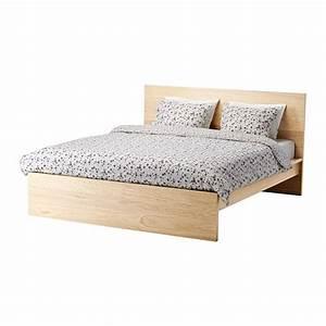 Lit Ikea Double : malm cadre de lit haut 140x200 cm plaqu ch ne blanchi ikea ~ Teatrodelosmanantiales.com Idées de Décoration