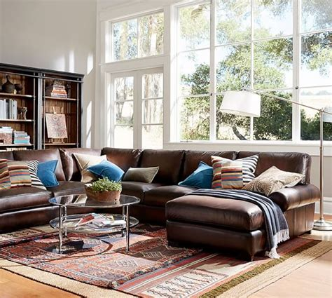 Pottery Barn L by Chelsea Sectional Floor L Pottery Barn