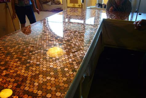 Kitchen Floor Of Pennies by Cents And Sensibility How To Install A Copper Floor