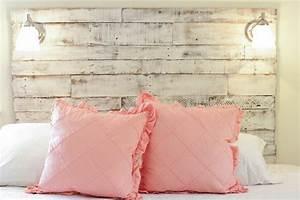 Idées Déco Tête De Lit : fabriquer une t te de lit en bois avec une porte ~ Zukunftsfamilie.com Idées de Décoration