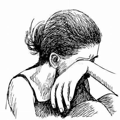 Sad Hand Drawn Human Sketch Emotion Background