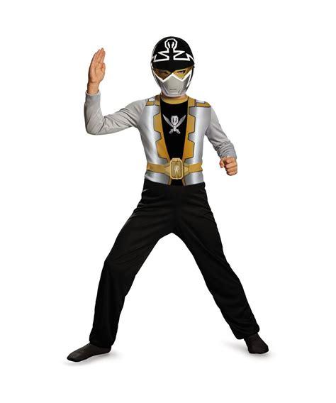 boys silver megaforce ranger economy line costume