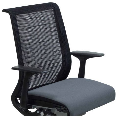 steelcase think used mesh back conference chair gray