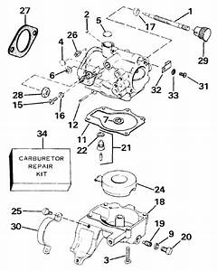Carburetor Parts For 1987 25hp E25tecur Outboard Motor