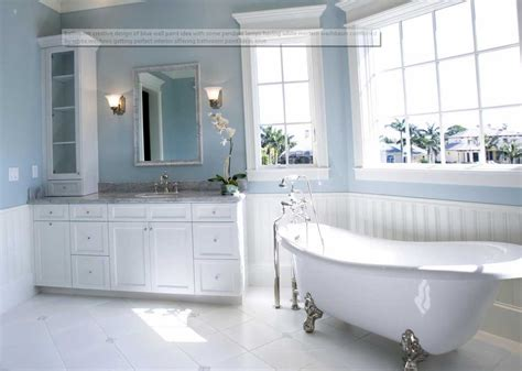 bathroom color ideas photos one of the best paint colors for bathrooms blue wall