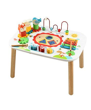 baby activity table wooden wooden toys children 39 s wooden baby toys elc