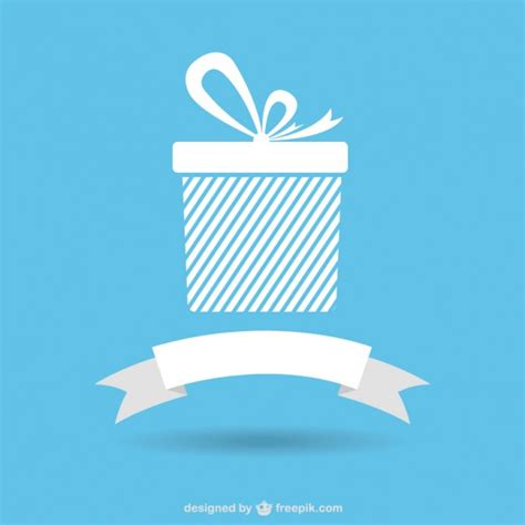 gift icons with ribbon banner vector free download
