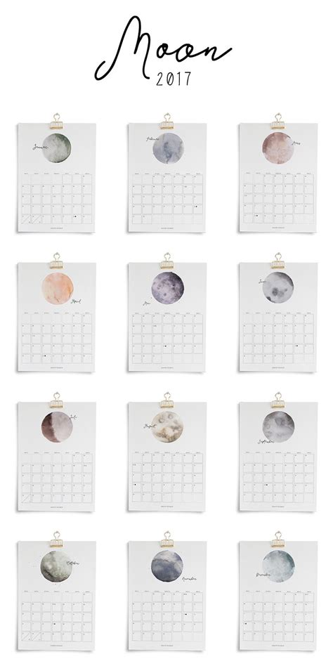 printable kalender moon freebies kostenlos