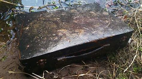 weird briefcase discovered     river