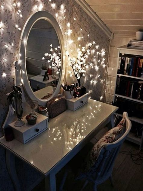 dressing table light ideas dressing table with fairy lights bedroom ideas