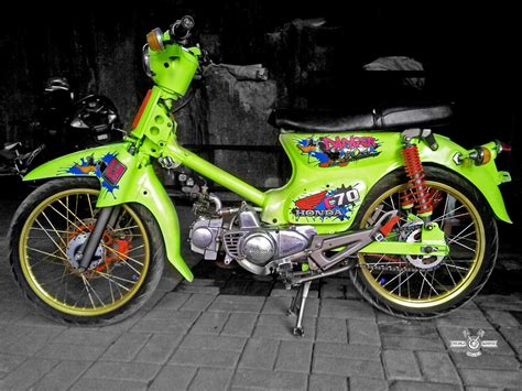 Modif Racing by Honda C70 Racing Hobbiesxstyle