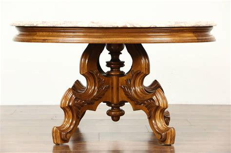 Italian round marble top coffee cocktail table lovely italian round coffee cocktail table with its wonderul marble top. Victorian Style Vintage Carved Walnut Oval Coffee Table, Rose Marble Top | eBay