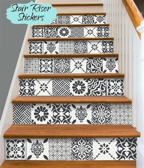 Removable Stair Riser Vinyl Decal by Stair Riser Vinyl Strips Removable Sticker Peel By