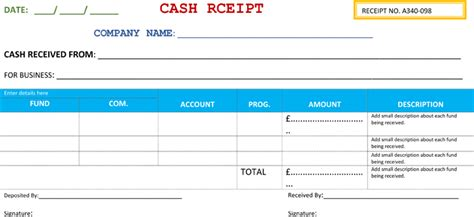 21 free receipt templates for word excel and pdf